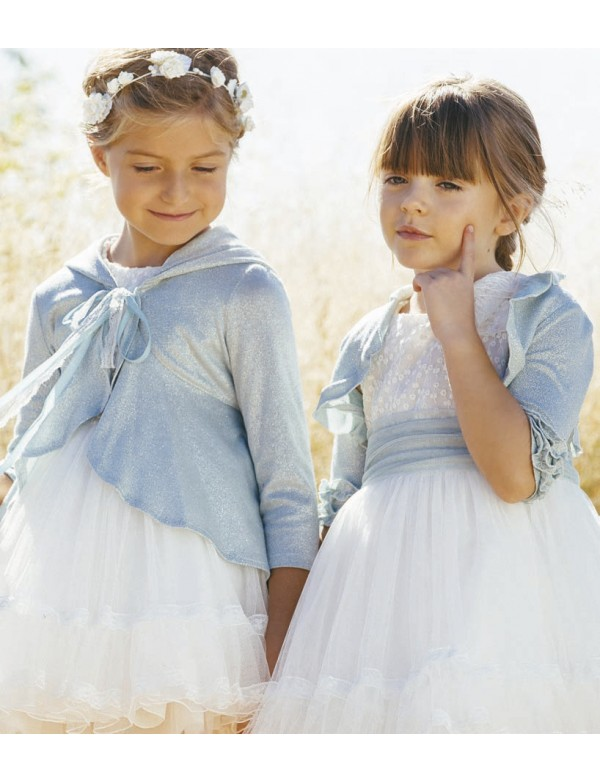 Bolero de punto para vestido niña de arras ceremonia fiesta, Artesanía AMAYA 2020 COLECCIÓN, modelo 513073H Alpi Valladolid