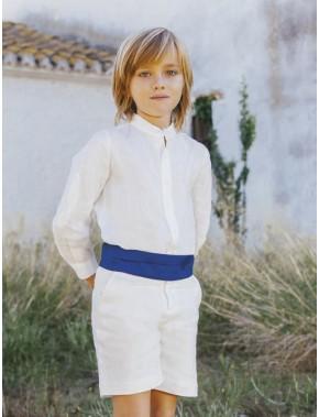 Conjunto traje niño ceremonia lino arras fiesta nueva colección 2020, AMAYA modelo 513281