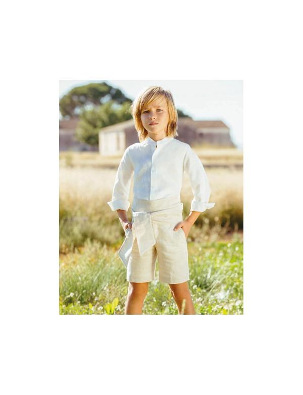 Conjunto traje niño ceremonia lino arras fiesta nueva colección 2020, AMAYA modelo 513280