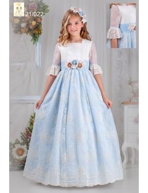 Vestido comunión niña, Ave María, modelo 21022, ALPI Moda Infantil (Valladolid)