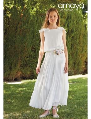 Vestido comunión niña, AMAYA, modelo 536014, ALPI Moda Infantil (Valladolid) Tallas 18 y 20