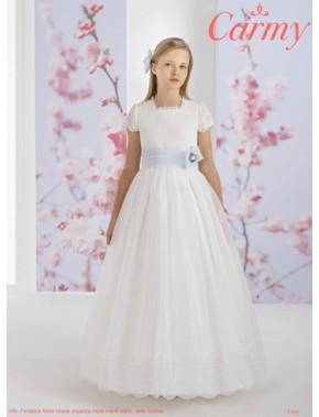 Vestido comunión niña, CARMY , modelo 1102 Modas Alpi Moda Infantil (Valladolid)