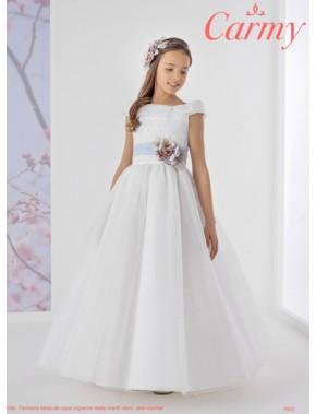 Vestido comunión niña, CARMY , modelo 1502 Modas Alpi Moda Infantil (Valladolid)