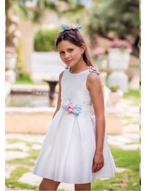 Vestido de arras ceremonia fiesta de niña, MIMILU KIDS, modelo 113 Magnífica LuLu en Alpinet Valladolid