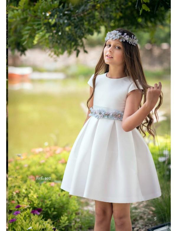 Vestido de arras ceremonia fiesta de niña, MIMILU KIDS, modelo 107 Magnífica LuLu en Alpi Moda Infantil Valladolid alpinet.es