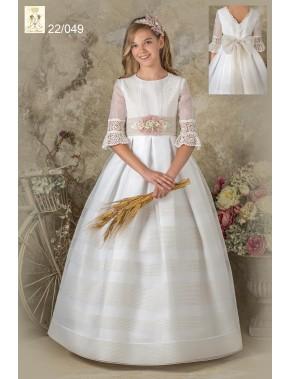 Vestido comunión niña, Ave María, modelo 21004, ALPI Moda Infantil (Valladolid)