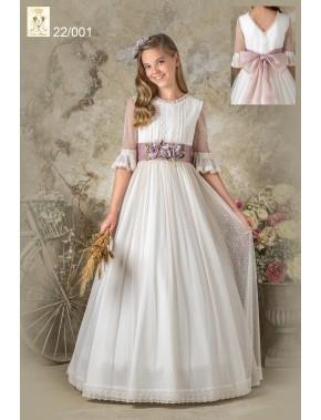 Vestido comunión niña, AVE MARIA - MOVA MODA, modelo 242005, COLECCIÓN Alpi Moda Infantil (VALLADOLID)