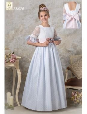 Vestido comunión niña, AVE MARIA - MOVA MODA, modelo 23026, COLECCIÓN MODAS ALPI (VALLADOLID)