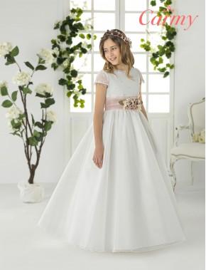 Vestido comunión niña, CARMY , modelo 2201, COLECCIÓN MODAS ALPI (VALLADOLID)