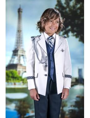 Traje de comunión 2016 de Almirante de niño,VARONES, modelo Capitán combinado azul.