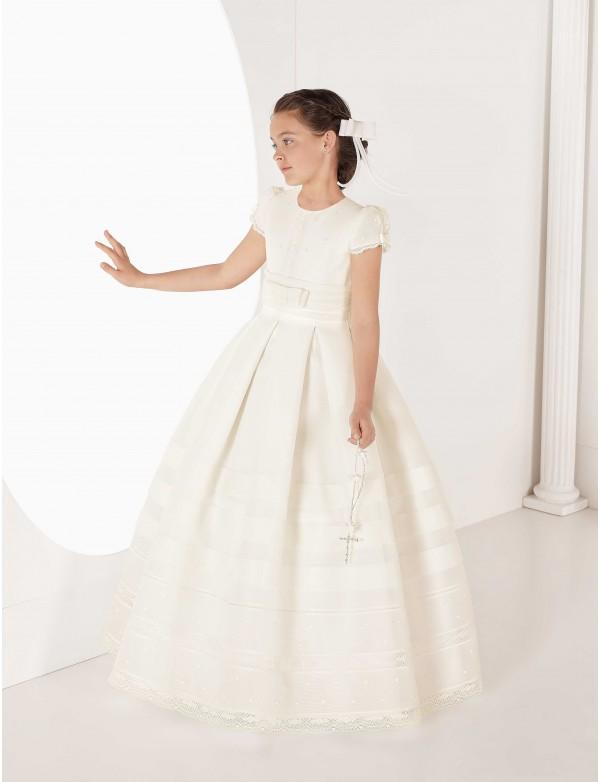 Vestido comunión niña, CARMY , modelo 7313, COLECCIÓN MODAS ALPI (VALLADOLID)